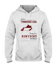 TENNESSEE GIRL LIVING IN KENTUCKY WORLD Hooded Sweatshirt thumbnail