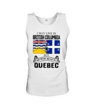 LIVE IN BRITISH COLUMBIA BEGAN IN QUEBEC ROOT Unisex Tank thumbnail