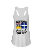 LIVE IN BRITISH COLUMBIA BEGAN IN QUEBEC ROOT Ladies Flowy Tank thumbnail