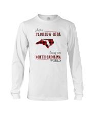 FLORIDA GIRL LIVING IN NORTH CAROLINA WORLD Long Sleeve Tee thumbnail