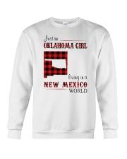 OKLAHOMA GIRL LIVING IN NEW MEXICO WORLD Crewneck Sweatshirt thumbnail