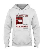 OKLAHOMA GIRL LIVING IN NEW MEXICO WORLD Hooded Sweatshirt thumbnail