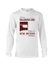 OKLAHOMA GIRL LIVING IN NEW MEXICO WORLD Long Sleeve Tee thumbnail