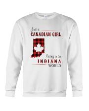 CANADIAN GIRL LIVING IN INDIANA WORLD Crewneck Sweatshirt thumbnail