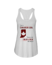 CANADIAN GIRL LIVING IN INDIANA WORLD Ladies Flowy Tank thumbnail