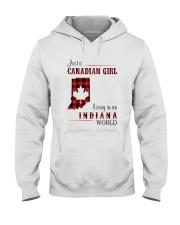 CANADIAN GIRL LIVING IN INDIANA WORLD Hooded Sweatshirt thumbnail