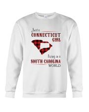 CONNECTICUT GIRL LIVING IN SOUTH CAROLINA WORLD Crewneck Sweatshirt thumbnail