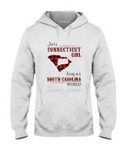 CONNECTICUT GIRL LIVING IN SOUTH CAROLINA WORLD Hooded Sweatshirt thumbnail