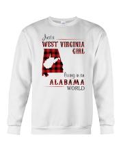 WEST VIRGINIA GIRL LIVING IN ALABAMA WORLD Crewneck Sweatshirt thumbnail
