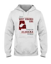 WEST VIRGINIA GIRL LIVING IN ALABAMA WORLD Hooded Sweatshirt thumbnail