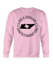 TEXAS GIRL LIVING IN A TENNESSEE WORLD Crewneck Sweatshirt thumbnail