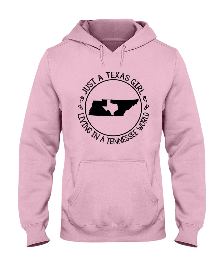 TEXAS GIRL LIVING IN A TENNESSEE WORLD Hooded Sweatshirt