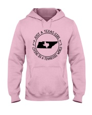 TEXAS GIRL LIVING IN A TENNESSEE WORLD Hooded Sweatshirt front