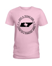 TEXAS GIRL LIVING IN A TENNESSEE WORLD Ladies T-Shirt thumbnail