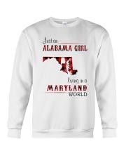 ALABAMA GIRL LIVING IN MARYLAND WORLD Crewneck Sweatshirt thumbnail