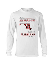 ALABAMA GIRL LIVING IN MARYLAND WORLD Long Sleeve Tee thumbnail