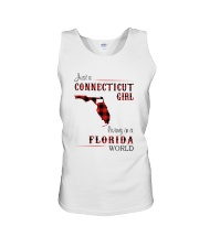 CONNECTICUT GIRL LIVING IN FLORIDA WORLD Unisex Tank thumbnail