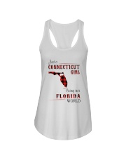 CONNECTICUT GIRL LIVING IN FLORIDA WORLD Ladies Flowy Tank thumbnail