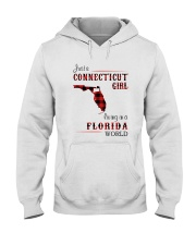 CONNECTICUT GIRL LIVING IN FLORIDA WORLD Hooded Sweatshirt thumbnail