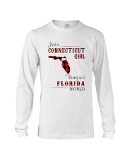 CONNECTICUT GIRL LIVING IN FLORIDA WORLD Long Sleeve Tee thumbnail