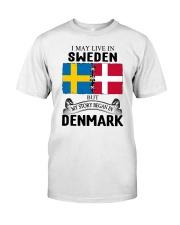 LIVE IN SWEDEN BEGAN IN DENMARK ROOT Classic T-Shirt tile