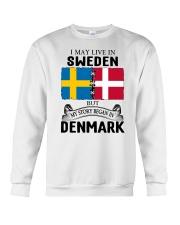 LIVE IN SWEDEN BEGAN IN DENMARK ROOT Crewneck Sweatshirt thumbnail