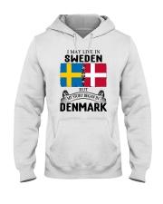 LIVE IN SWEDEN BEGAN IN DENMARK ROOT Hooded Sweatshirt thumbnail