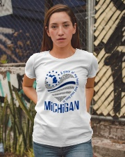 A PIECE OF MY HEART AND SOUL LIVES IN MICHIGAN Ladies T-Shirt apparel-ladies-t-shirt-lifestyle-03