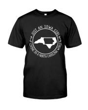 IOWA GIRL LIVING IN NORTH CAROLINA WORLD Classic T-Shirt thumbnail