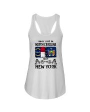 LIVE IN NORTH CAROLINA BEGAN IN NEW YORK Ladies Flowy Tank thumbnail