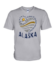A PIECE OF MY HEART AND SOUL LIVES IN ALASKA V-Neck T-Shirt thumbnail