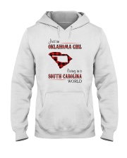 OKLAHOMA GIRL LIVING IN SOUTH CAROLINA WORLD Hooded Sweatshirt thumbnail