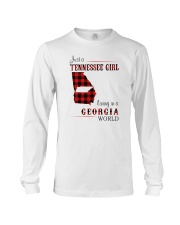 TENNESSEE GIRL LIVING IN GEORGIA WORLD Long Sleeve Tee thumbnail