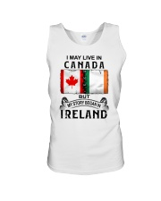 LIVE IN CANADA BEGAN IN IRELAND Unisex Tank thumbnail