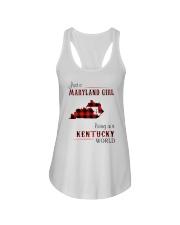 MARYLAND GIRL LIVING IN KENTUCKY WORLD Ladies Flowy Tank thumbnail