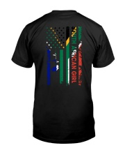 SOUTH AFRICAN GIRL AND FLAG Classic T-Shirt thumbnail