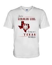GERMAN GIRL LIVING IN TEXAS WORLD V-Neck T-Shirt thumbnail