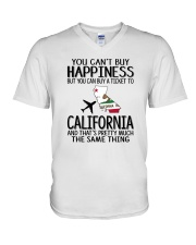 YOU CAN BUY A TICKET TO CALIFORNIA V-Neck T-Shirt thumbnail