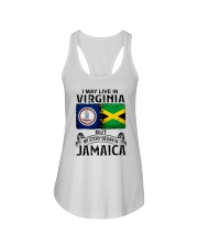 LIVE IN VIRGINIA BEGAN IN JAMAICA Ladies Flowy Tank thumbnail