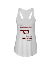 NEBRASKA GIRL LIVING IN OKALHOMA WORLD Ladies Flowy Tank thumbnail