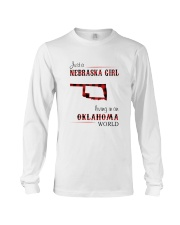 NEBRASKA GIRL LIVING IN OKALHOMA WORLD Long Sleeve Tee thumbnail
