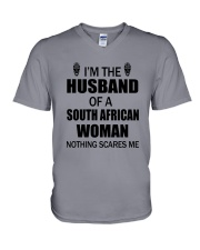 I'M THE HUSBAND OF A SOUTH AFRICAN WOMAN V-Neck T-Shirt thumbnail