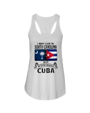 LIVE IN SOUTH CAROLINA BEGAN IN CUBA Ladies Flowy Tank thumbnail