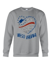 A PIECE OF MY HEART AND SOUL LIVES IN WV Crewneck Sweatshirt thumbnail
