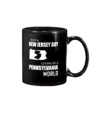 JUST A JERSEY GUY LIVING IN PENNSYLVANIA WORLD Mug thumbnail