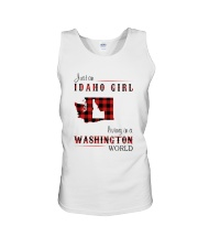 IDAHO GIRL LIVING IN WASHINGTON WORLD Unisex Tank thumbnail
