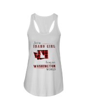 IDAHO GIRL LIVING IN WASHINGTON WORLD Ladies Flowy Tank thumbnail