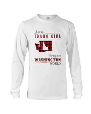 IDAHO GIRL LIVING IN WASHINGTON WORLD Long Sleeve Tee thumbnail