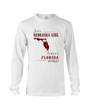 NEBRASKA GIRL LIVING IN FLORIDA WORLD Long Sleeve Tee thumbnail