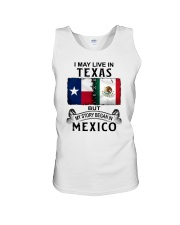 LIVE IN TEXAS BEGAN IN MEXICO Unisex Tank thumbnail